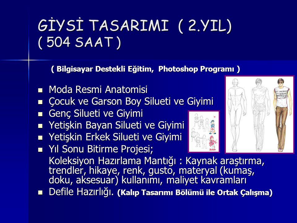 GİYSİ TASARIMI ( 2.YIL) ( 504 SAAT )