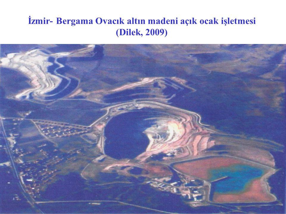 İzmir- Bergama Ovacık altın madeni açık ocak işletmesi