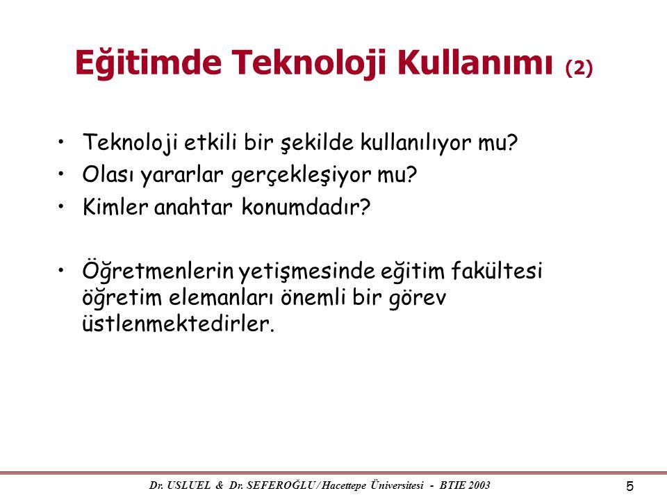 Eğitimde Teknoloji Kullanımı (2)