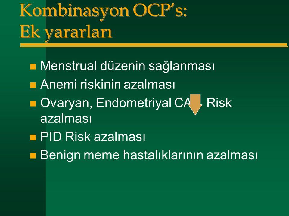 Kombinasyon OCP's: Ek yararları