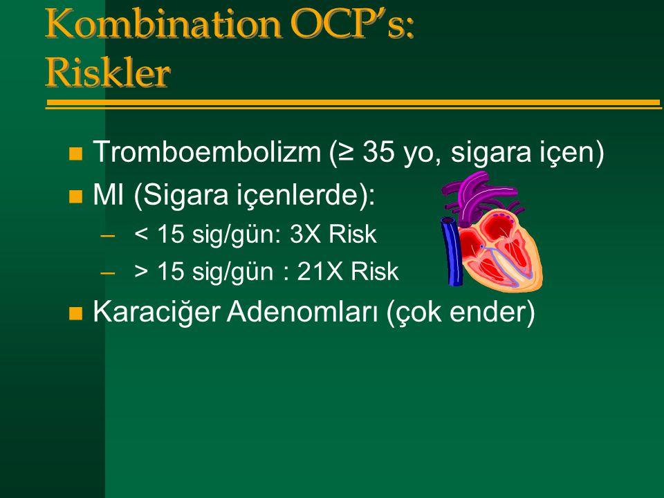 Kombination OCP's: Riskler