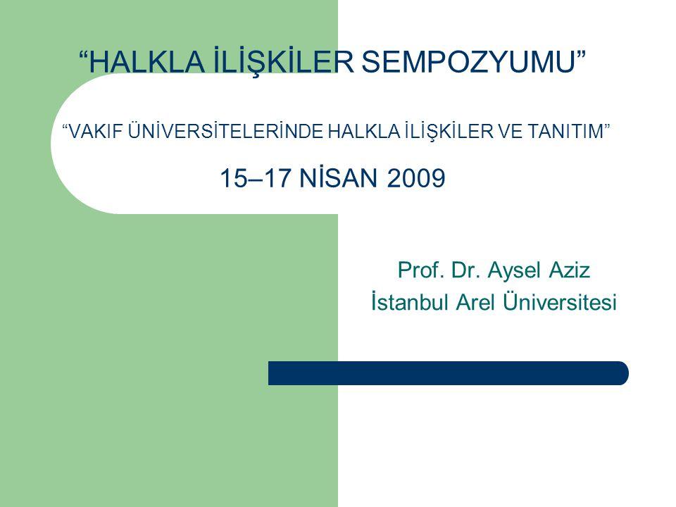 Prof. Dr. Aysel Aziz İstanbul Arel Üniversitesi