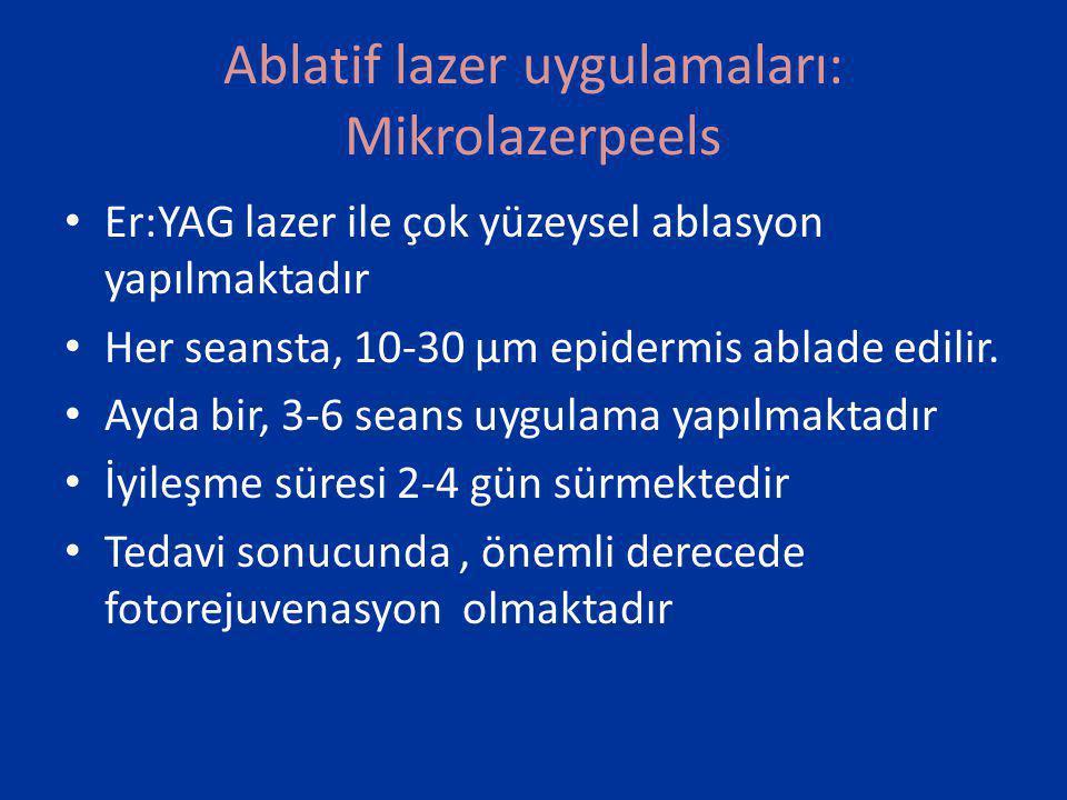 Ablatif lazer uygulamaları: Mikrolazerpeels