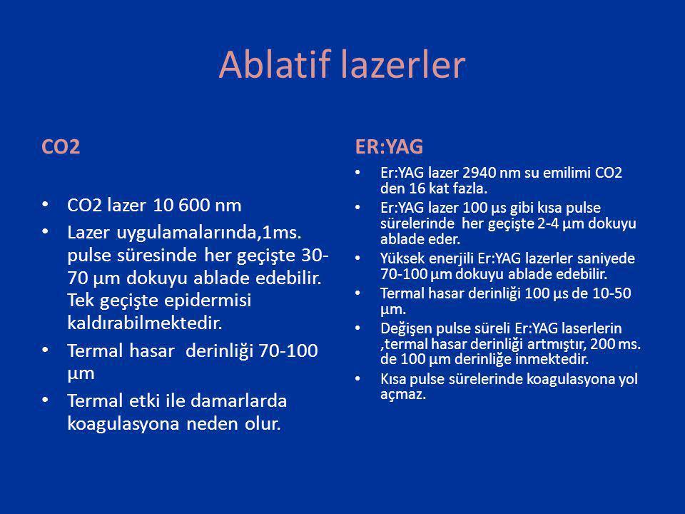 Ablatif lazerler CO2 ER:YAG CO2 lazer 10 600 nm