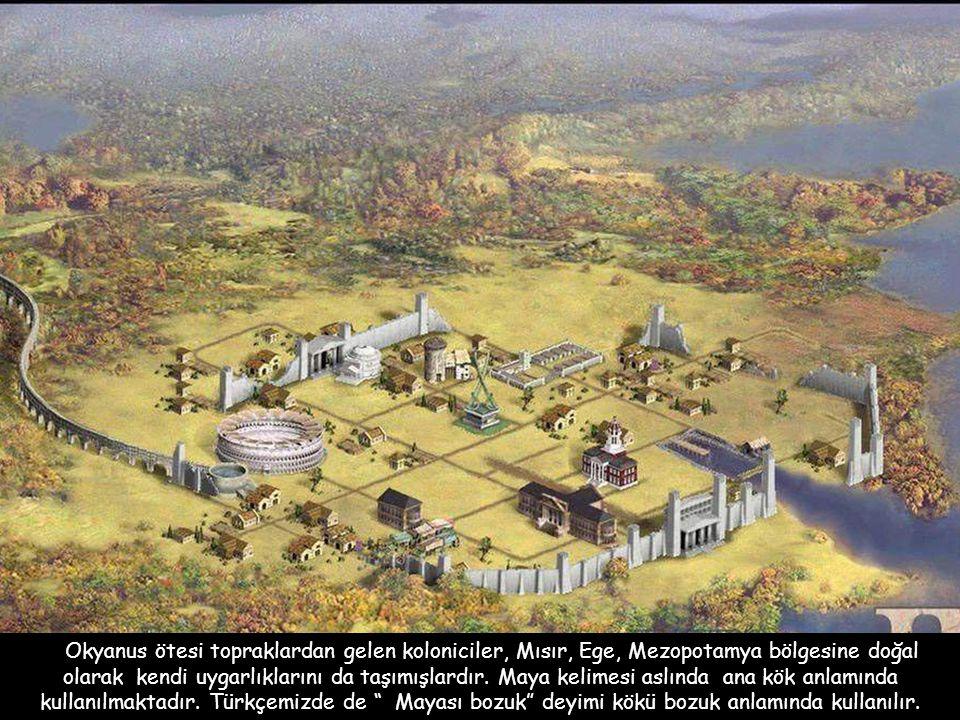 Okyanus ötesi topraklardan gelen koloniciler, Mısır, Ege, Mezopotamya bölgesine doğal olarak kendi uygarlıklarını da taşımışlardır.