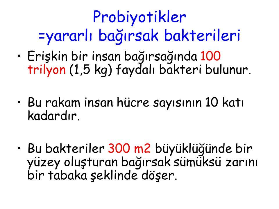 Probiyotikler =yararlı bağırsak bakterileri