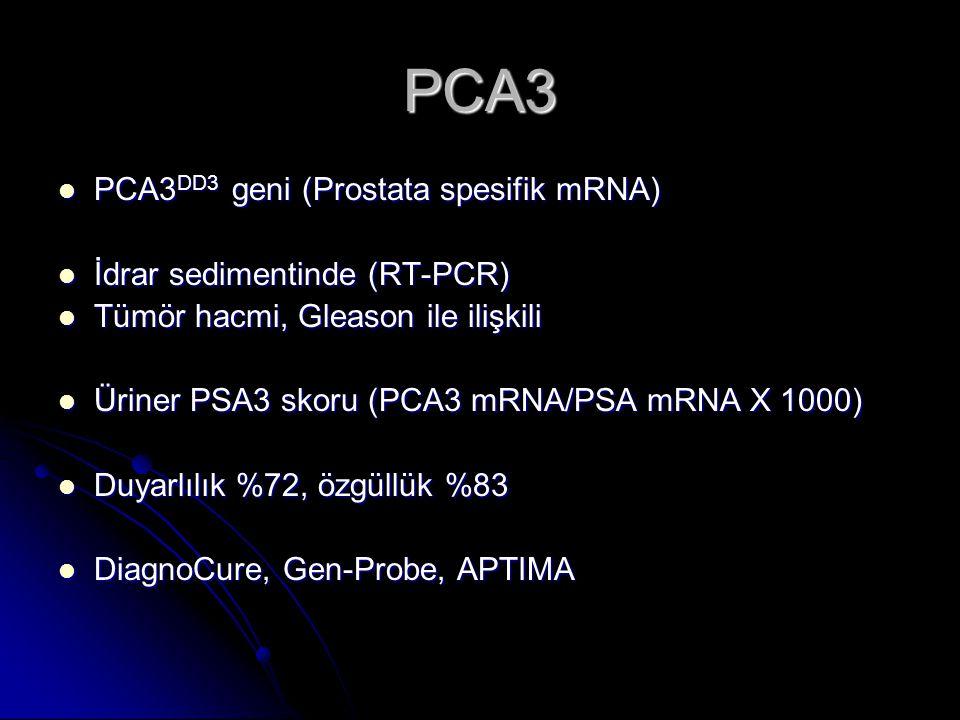 PCA3 PCA3DD3 geni (Prostata spesifik mRNA) İdrar sedimentinde (RT-PCR)