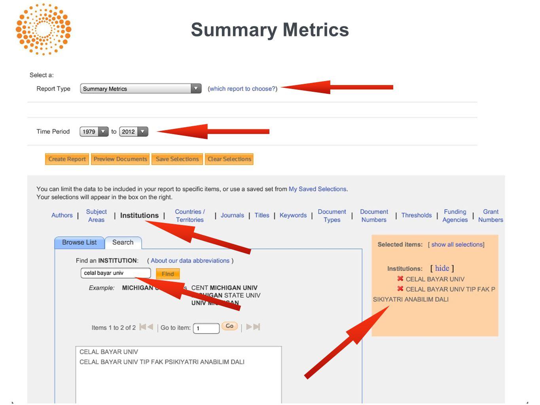 Summary Metrics