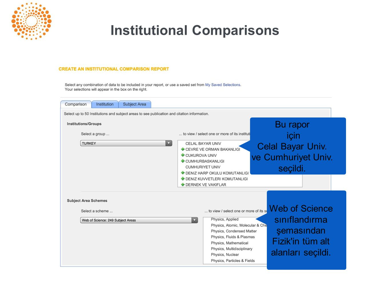 Institutional Comparisons