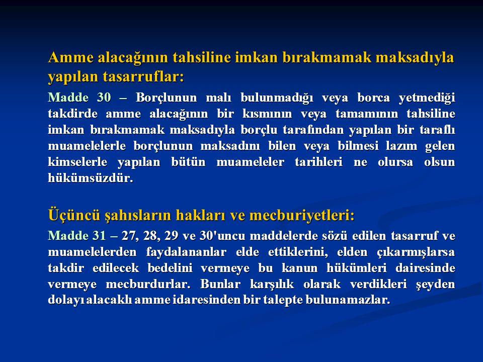 Üçüncü şahısların hakları ve mecburiyetleri:
