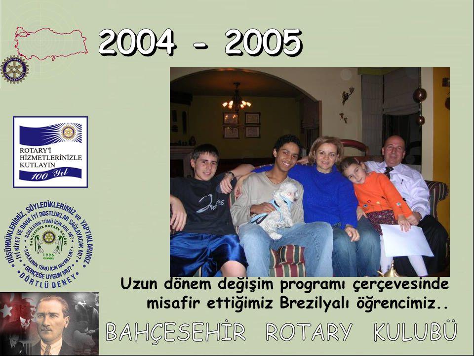 2004 - 2005 Uzun dönem değişim programı çerçevesinde misafir ettiğimiz Brezilyalı öğrencimiz..