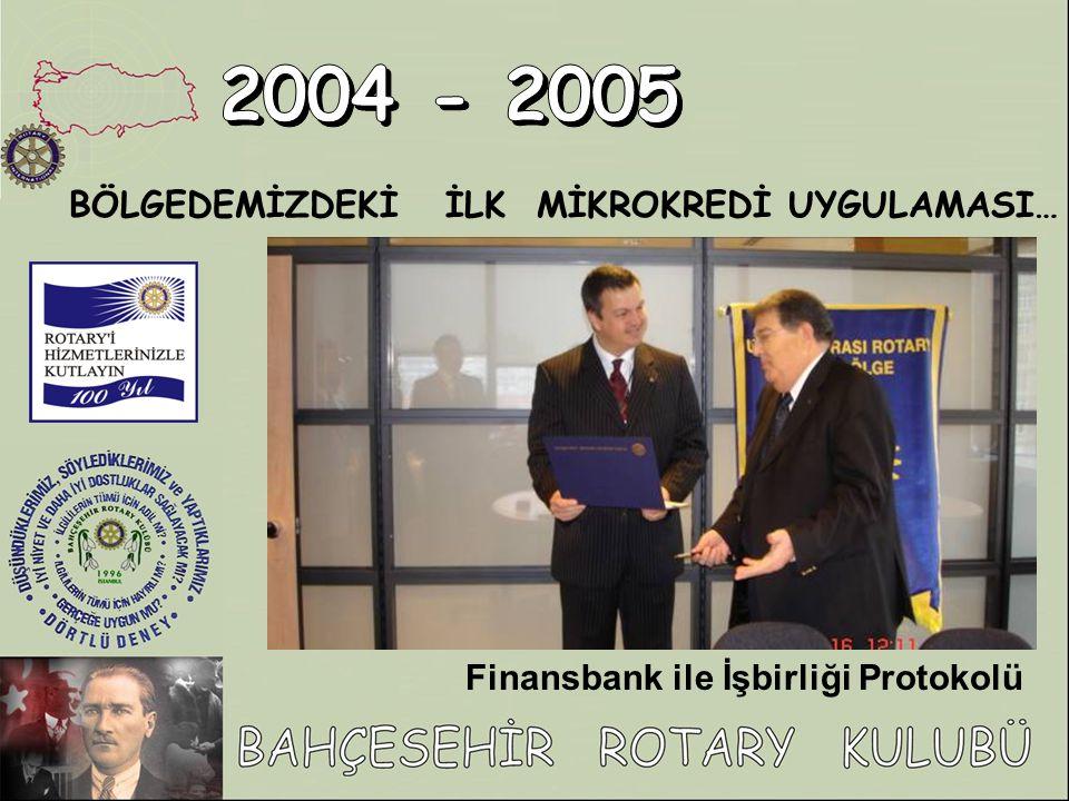 2004 - 2005 BÖLGEDEMİZDEKİ İLK MİKROKREDİ UYGULAMASI…
