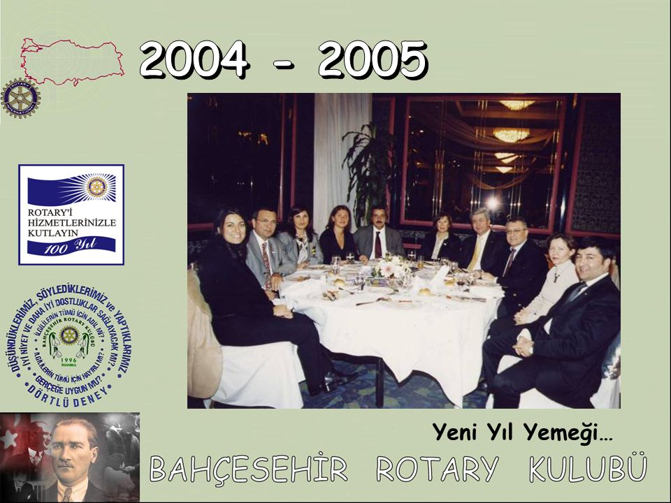 2004 - 2005 Yeni Yıl Yemeği…