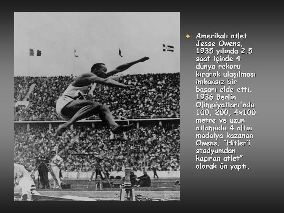 Amerikalı atlet Jesse Owens, 1935 yılında 2