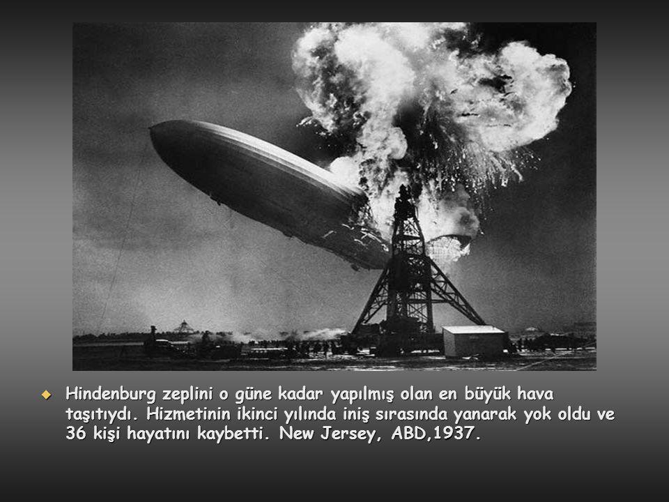 Hindenburg zeplini o güne kadar yapılmış olan en büyük hava taşıtıydı