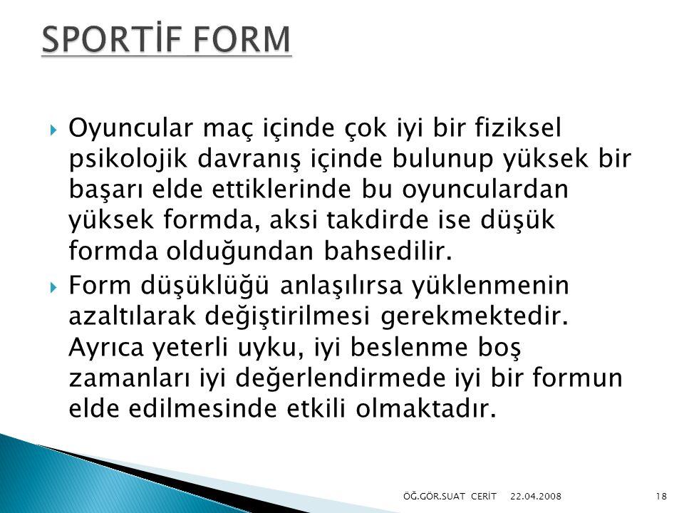 SPORTİF FORM
