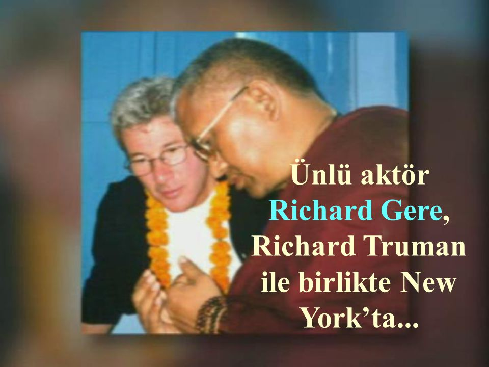 Ünlü aktör Richard Gere, Richard Truman ile birlikte New York'ta...