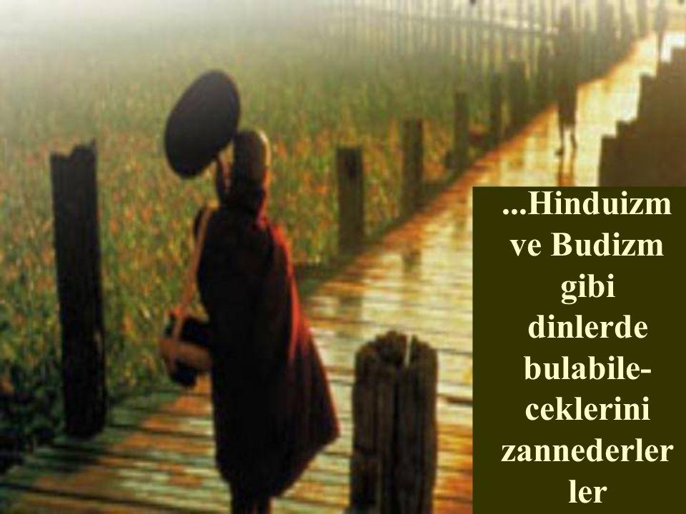 ...Hinduizm ve Budizm gibi dinlerde bulabile-ceklerini zannederlerler