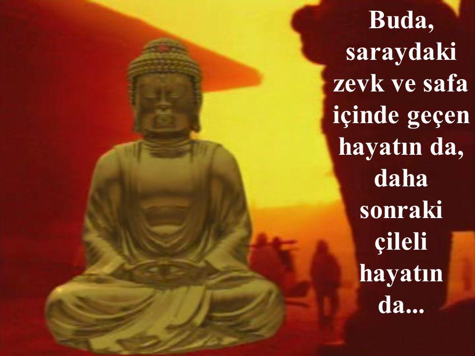 Buda, saraydaki zevk ve safa içinde geçen hayatın da, daha sonraki çileli hayatın da...