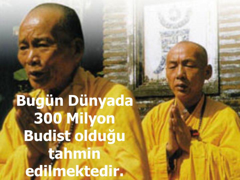 Bugün Dünyada 300 Milyon Budist olduğu tahmin edilmektedir.