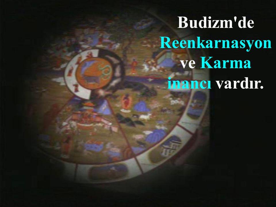Budizm de Reenkarnasyon ve Karma inancı vardır.