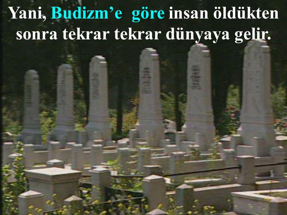 Yani, Budizm'e göre insan öldükten sonra tekrar tekrar dünyaya gelir.