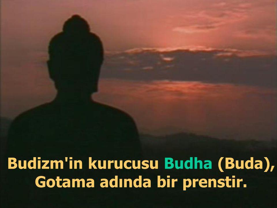 Budizm in kurucusu Budha (Buda), Gotama adında bir prenstir.