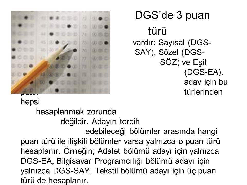DGS'de 3 puan