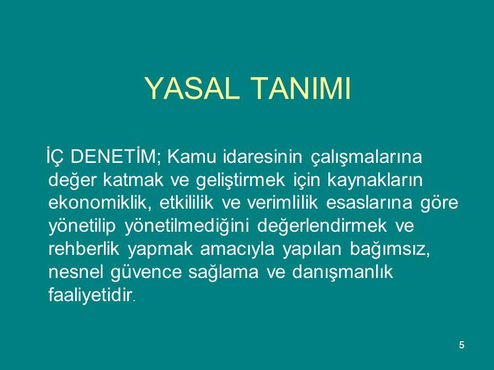 YASAL TANIMI