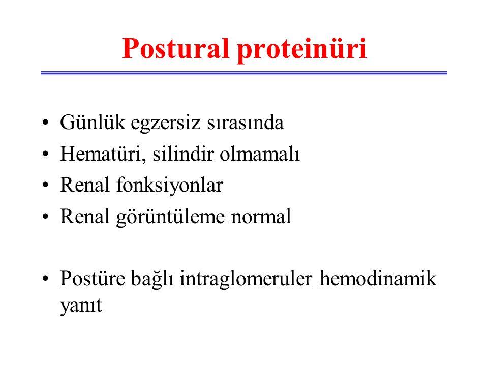 Postural proteinüri Günlük egzersiz sırasında