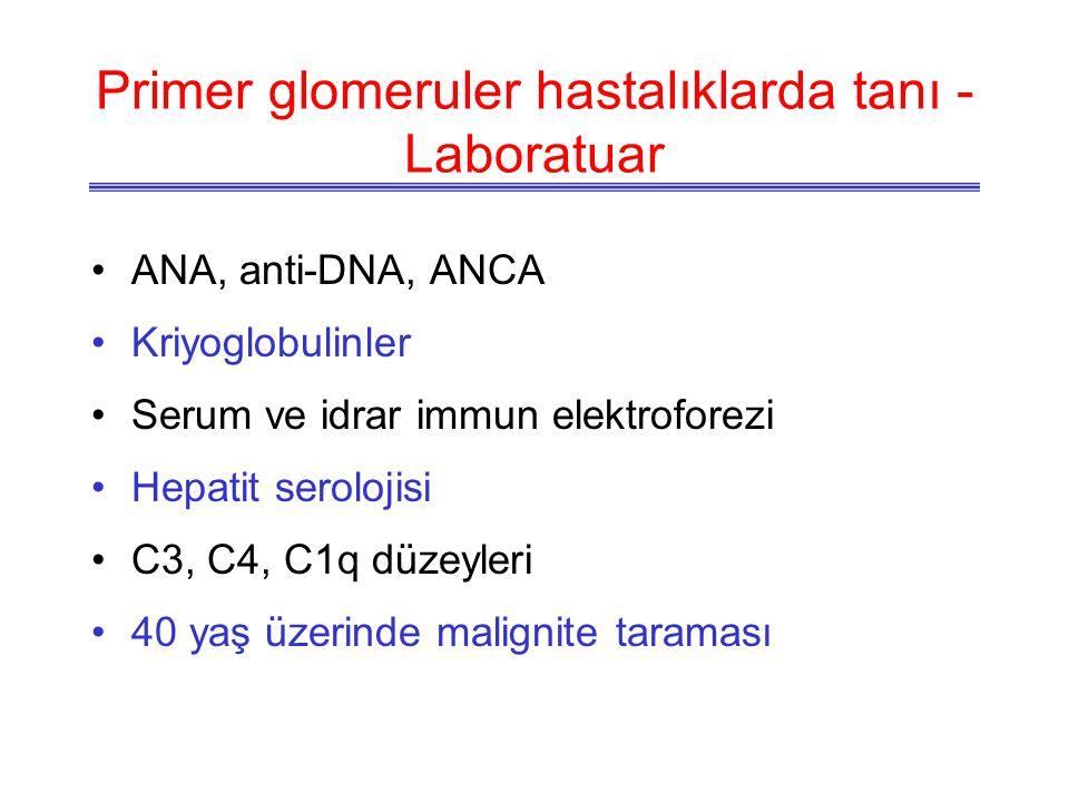 Primer glomeruler hastalıklarda tanı - Laboratuar