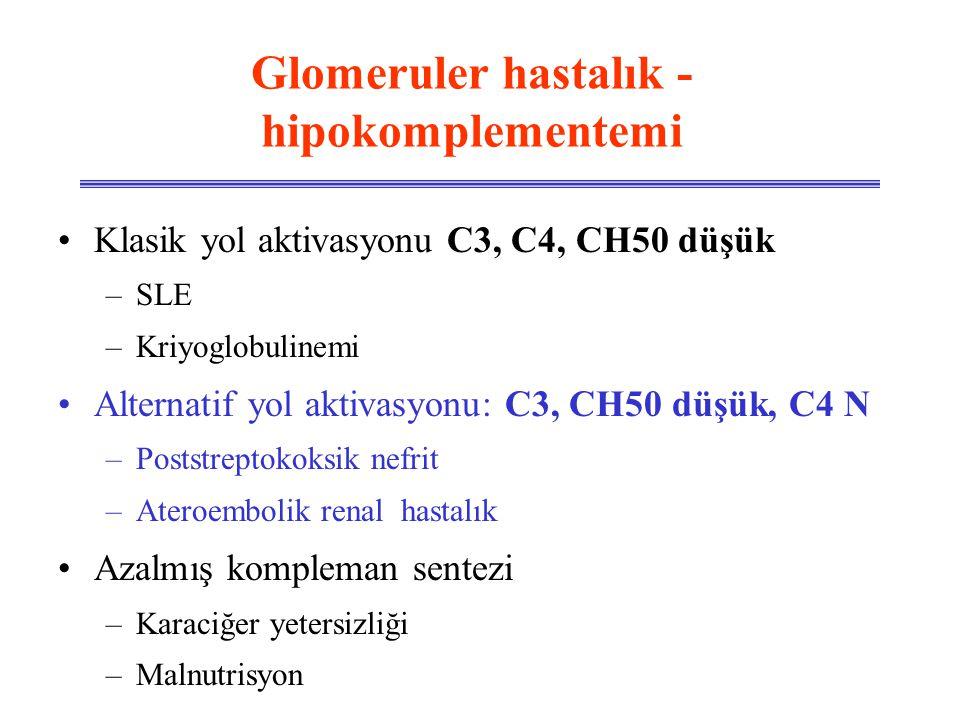 Glomeruler hastalık - hipokomplementemi