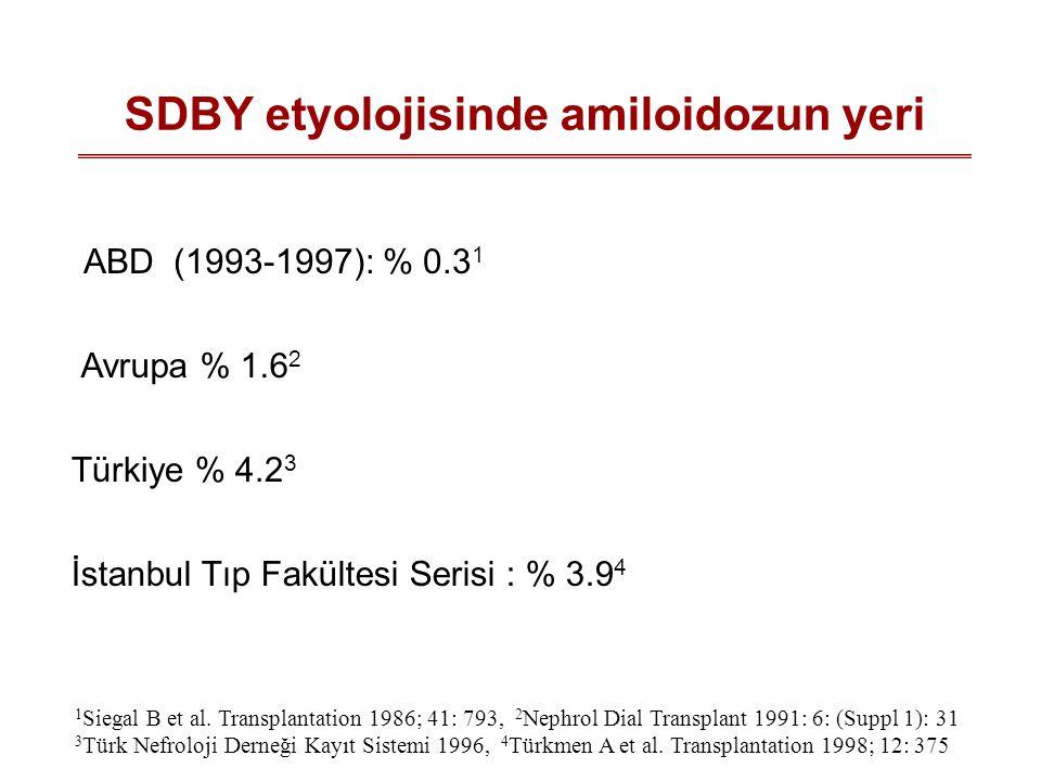 SDBY etyolojisinde amiloidozun yeri