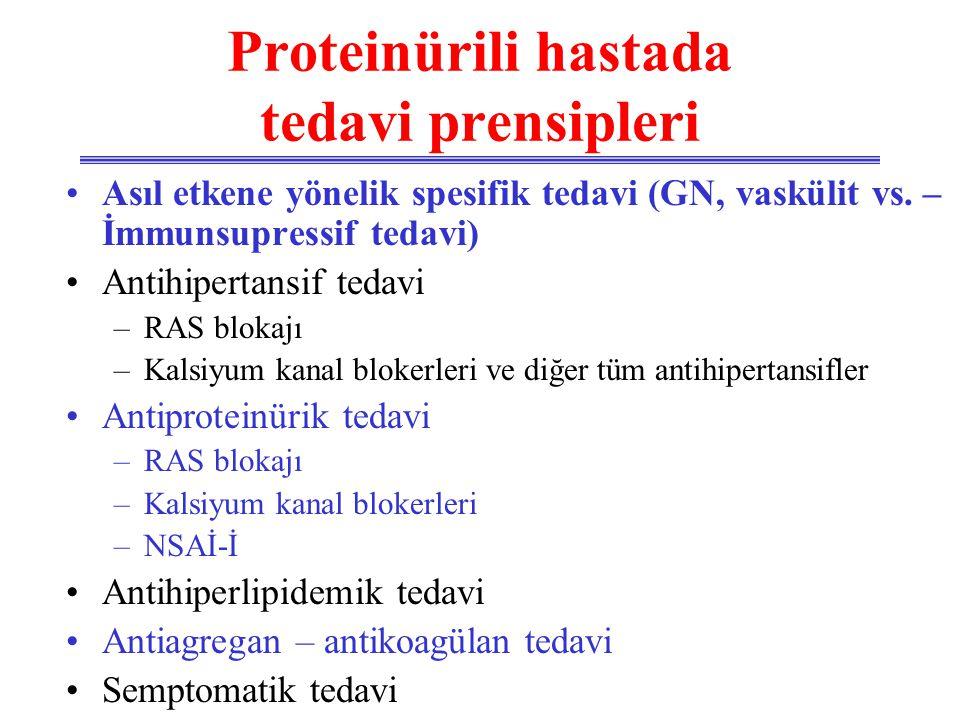 Proteinürili hastada tedavi prensipleri