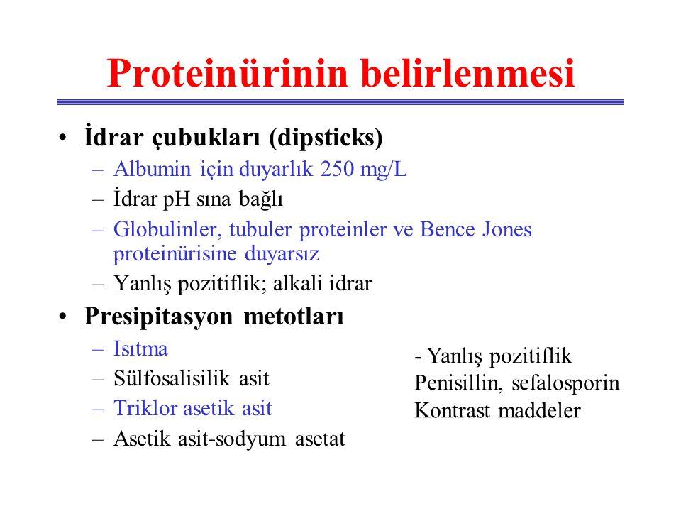 Proteinürinin belirlenmesi