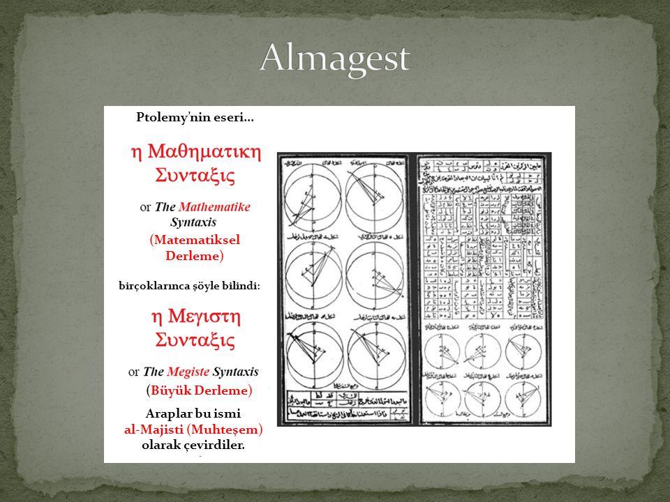 Almagest Ptolemy'nin eseri... (Matematiksel Derleme) (Büyük Derleme)