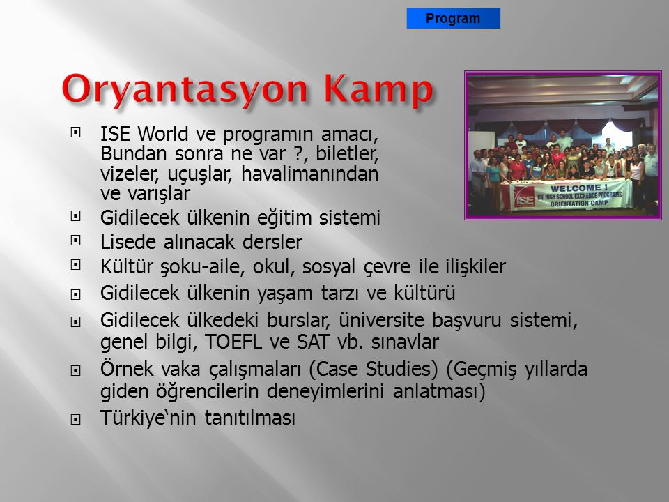 Program Oryantasyon Kamp.