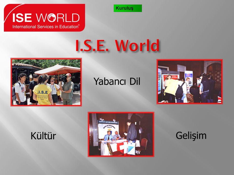 Kuruluş I.S.E. World Yabancı Dil Kültür Gelişim