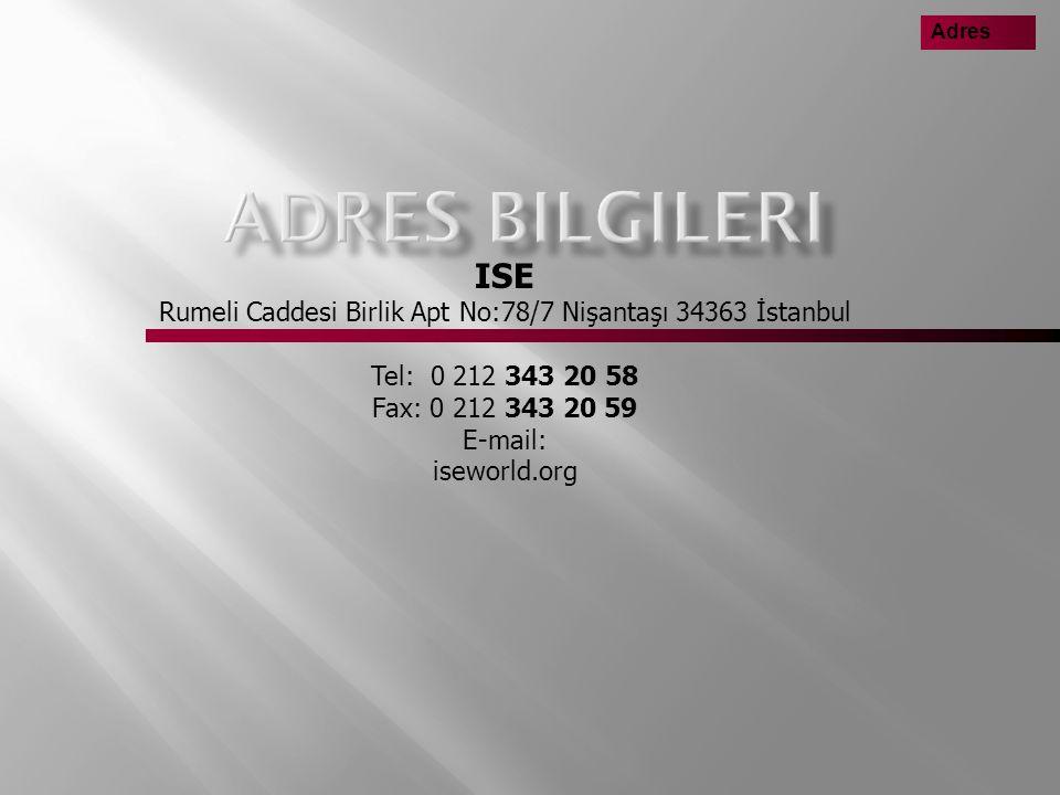 Rumeli Caddesi Birlik Apt No:78/7 Nişantaşı 34363 İstanbul