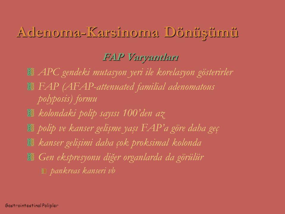 Adenoma-Karsinoma Dönüşümü