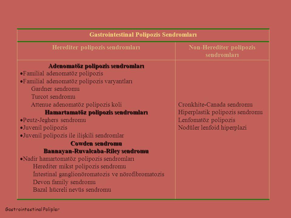 Gastrointestinal Polipozis Sendromları Herediter polipozis sendromları