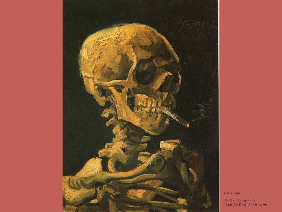 Van Gogh Skull with Cigarette 1886 (80 Kb); 32.5 x 24 cm