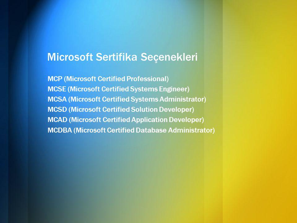 Microsoft Sertifika Seçenekleri