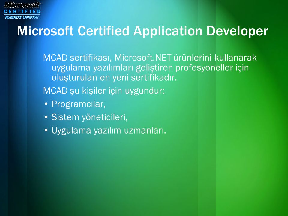 Microsoft Certified Application Developer