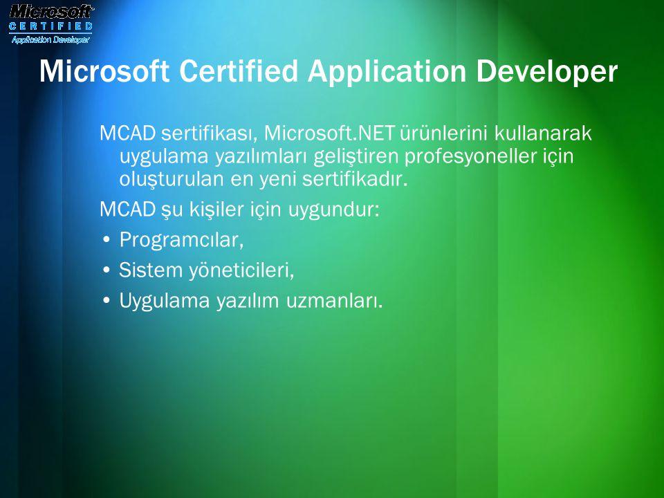 Microsoft Certified Application Developer
