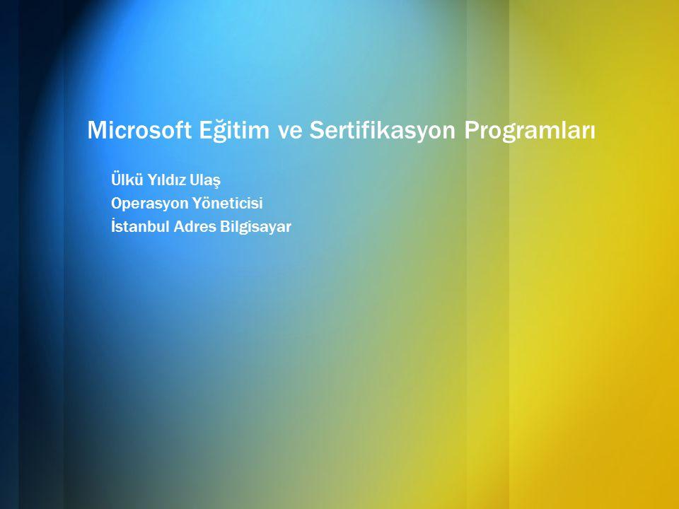 Microsoft Eğitim ve Sertifikasyon Programları