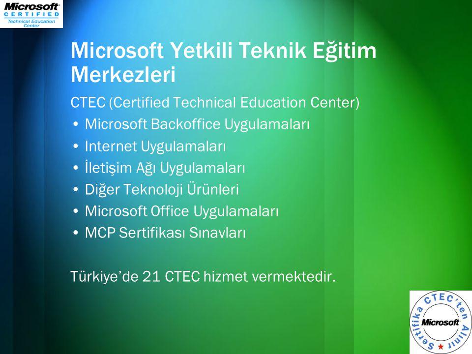 Microsoft Yetkili Teknik Eğitim Merkezleri