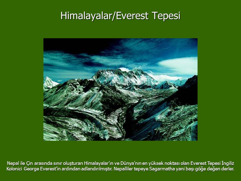 Himalayalar/Everest Tepesi