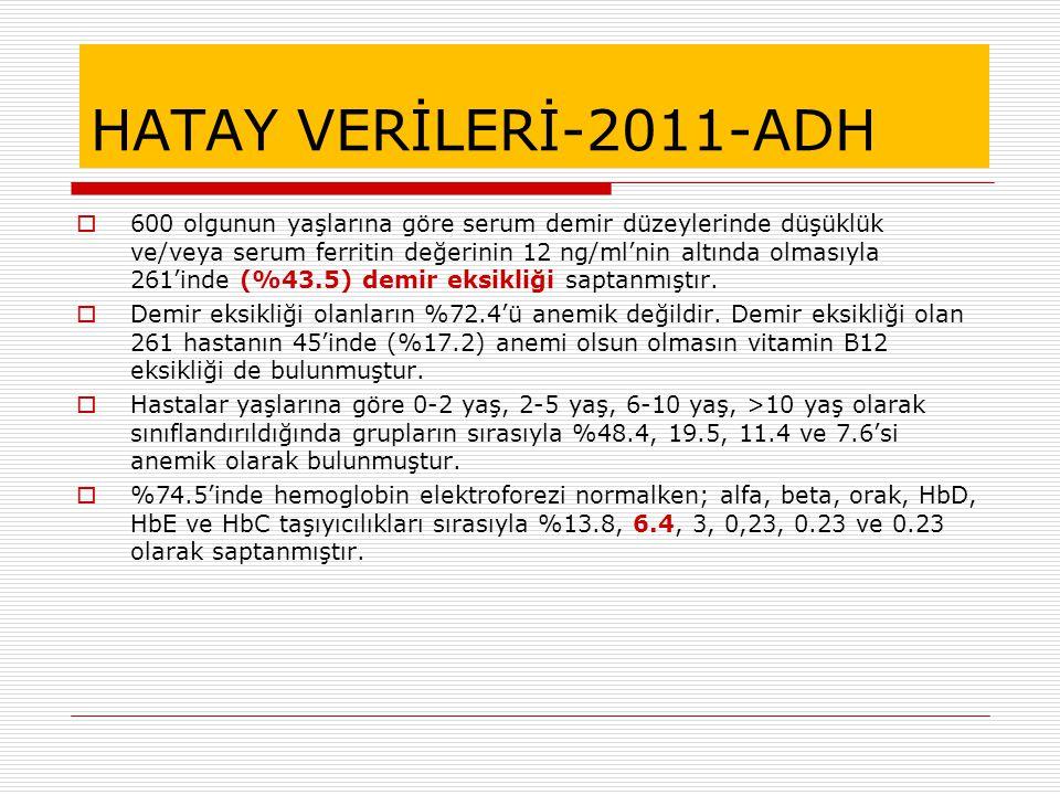 HATAY VERİLERİ-2011-ADH