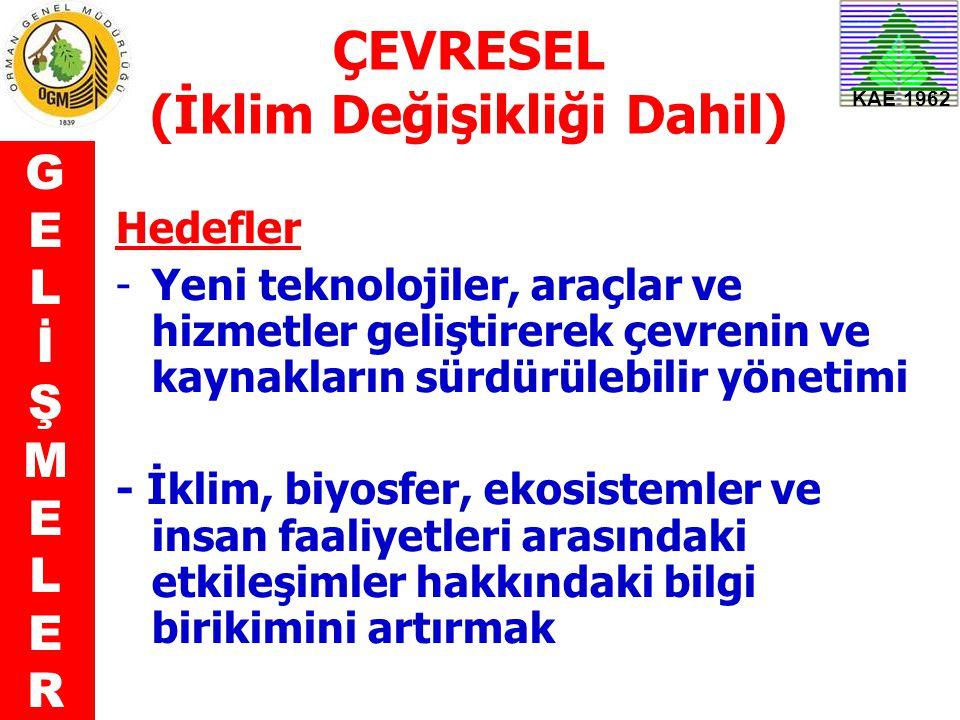 ÇEVRESEL (İklim Değişikliği Dahil)